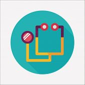 Stethoscope Flat Icon With Long Shadow