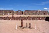 Tiwanaku ruins - pre-Inca Kalasasaya & lower temples & Kontiki monolith