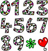 Set of Spotty Doodle Numbers