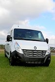 White Renault Master Van On Display