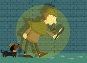 Detective-Brick Wall