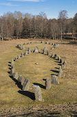 pic of rune  - anundshog cemetary rune stone sweden europe scandinavian - JPG