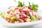 Fresh Vegetables and Meat Salad