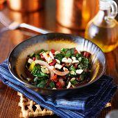 rainbow chard salad in bowl