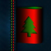 Jeans Seam With Christmas Tree Tab