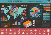 Education School Infographics. Set Elements For Creating Your Own Infographics