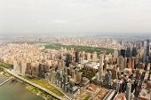 aerial view of central park in new york city, USA