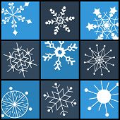 Snowflake Flat Icons  For Web And Mobile