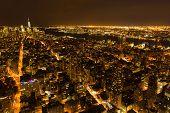 beautiful new york city night view, USA