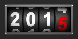 image of countdown timer  - 2015 New year countdown timer - JPG
