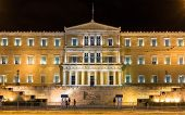 pic of evzon  - Hellenic Parliament at night  - JPG