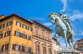 Statue Of Cosimo De Medici In Florence, Italy