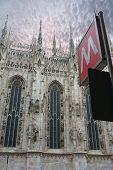 Metro Sign In Milan