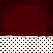 Square Red And White Polka Dot Torn Grunge Textured Background