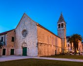 stock photo of domination  - Illuminated Church of Saint Dominic in Trogir at Night Croatia - JPG
