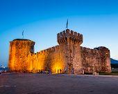 Kamerlengo Fortress In Trogir In The Evening, Dalmatia, Croatia