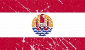 picture of french polynesia  - Flag of french polynesia with old texture - JPG
