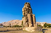 The North Colossus Of Memnon Near Luxor - Egypt