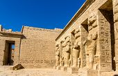 Inside The Mortuary Temple Of Ramses Iii Near Luxor - Egypt