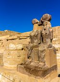 Statues Of Ramses Iii. And Thoth At The Mortuary Temple - Egypt