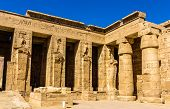Mortuary Temple Of Ramses Iii. Near Luxor In Egypt