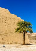 At The Entrace Of The Medinet Habu Temple - Egypt