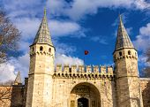 Gate Of Greeting (middle Gate) Of Topkapi Palace In Istanbul