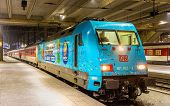Basel, Switzerland - December 15: City Night Line Train To Prague At Basel Sbb Station On December 1