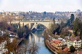 Lorrainebrucke And Lorraineviadukt Bridges In Bern - Switzerland