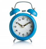Blue alarm-clock