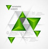 Infographics with a 3d arrow. Vector illustration
