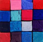 Background - Bright Pastel Chalks With Red,blue,violet And Purple Colours