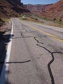 Highway Through Desert Canyon