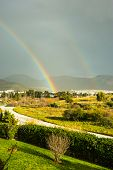 Rainbow Over The Suburb Of Athens, Greece