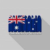 Australia Flag Typography, T-shirt Graphics