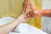 Foot Massage, Spa Foot Oil Treatment.