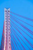 Suspension Bridge Over Wisla In Gdansk Poland.