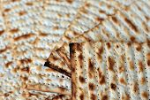 image of slavery  - Traditional Jewish Matzo sheet on a Passover Seder table - JPG