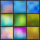 Set Of Abstract Colorful Blurred Background. Can Use For Website Or Presentation.