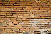 ancient brick wall background and texture.