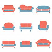 Sofa Icons Duotone.