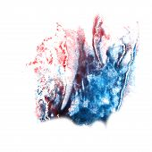 stain with watercolour blue, burgundy paint stroke watercolor is