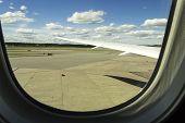 Seen Through Window Of An Aircraft