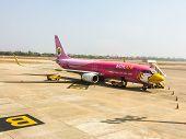 Udonthani, Thailand - May 22 : Nokair Airplane