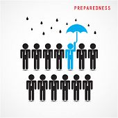 Businessman Standing Out From The Crowd. Business Idea And Preparation Concept.