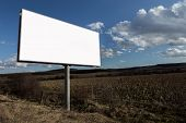 Advertising Billboard And Nature Landscape