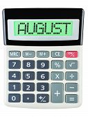 Calculator With August