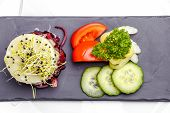 Foie Gras with fresh vegetables