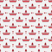 sombrero and maracas pattern