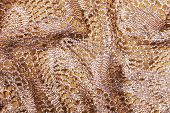 picture of rayon  - Folded and Elegant Golden Lacy Background Close - JPG